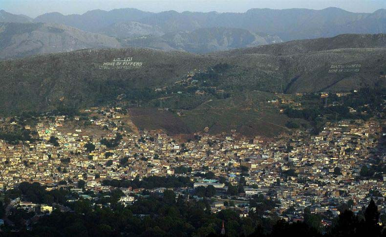 Photo: Aslam Jadoon /EPA 2011 Abbottabad, between the Piffers and the Balochis