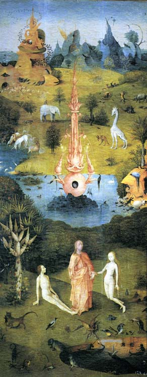 The Garden of Earthly Delights, left wing devoted to paradise