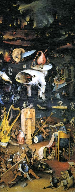 The Garden of Earthly Delights, right wing devoted to hell