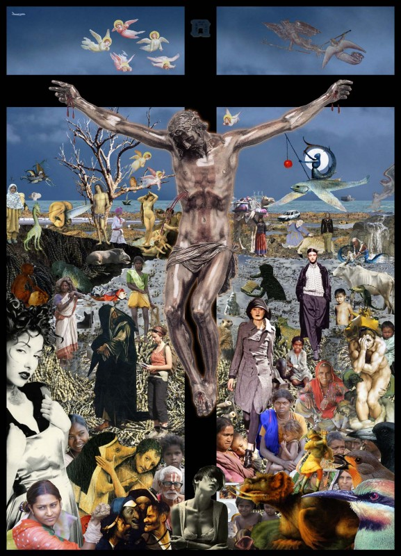 Tony: Sargasso Christ — What happened? 2011: 152x112 cm Inkjet print on Arches Velin Museum Rag paper