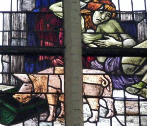 Prodigal son Stained Glass, Old Church, Delft 2007