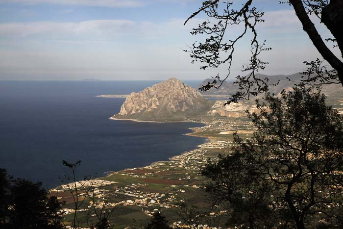 Erice at Dusk looking away from Trapani, Sicily