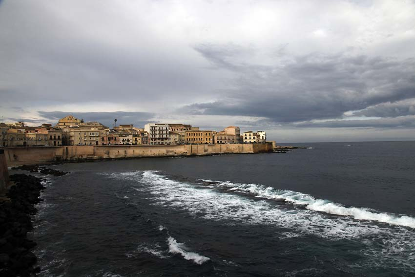 View of Ortygia Island, the historical centre of Syracuse, Sicily