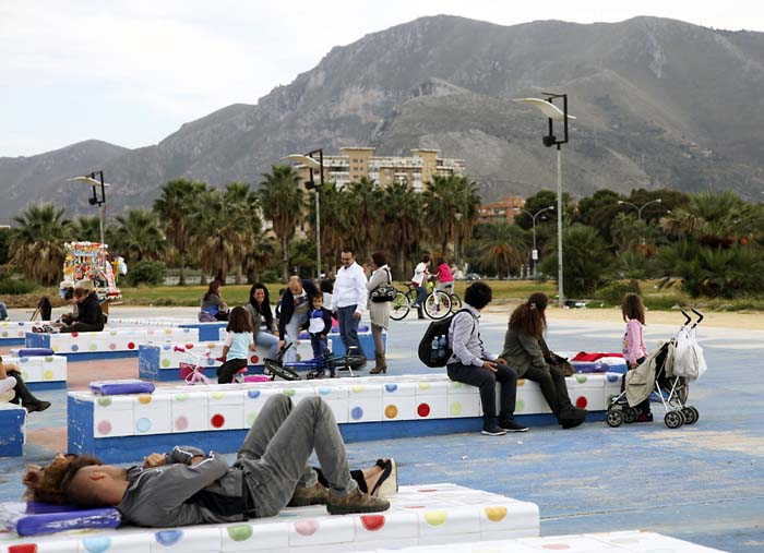 Sunday afternoon Port of Palermo, Sicily