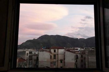 Sunset from our bedroom window,Palermo, Sicily