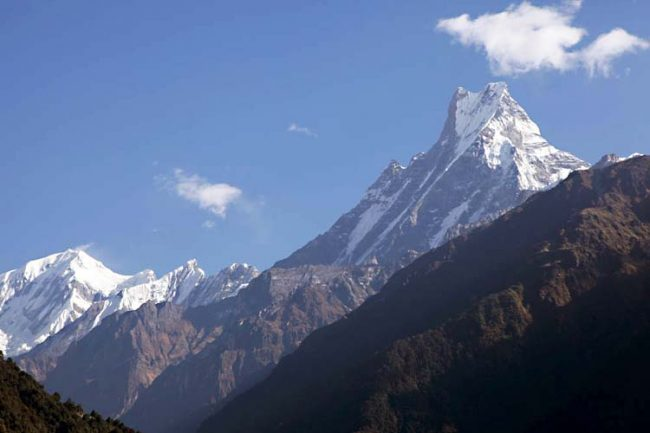 Fishtail Machhapuchhre from down the valley
