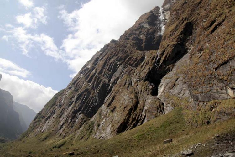 Rockwall, looking back down the valley above Deorali