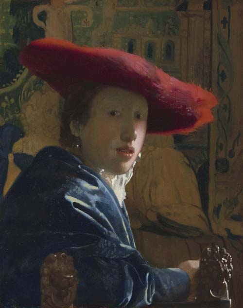 Lady with a Red Hat 1665–1666, 23.2 x 18.1 cm, National Gallery of Art, Washington