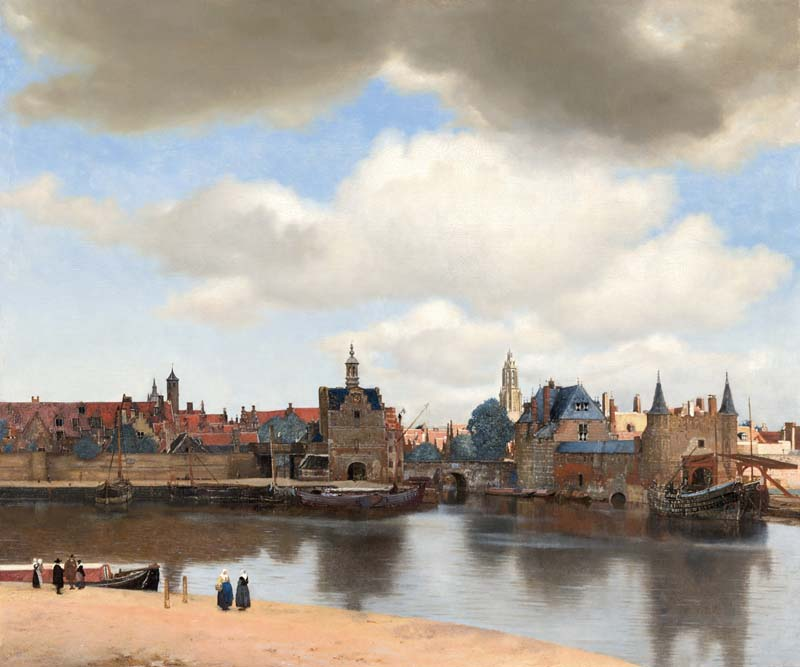 The View of Delft 1660-61, 98.5 x 117.5, Maritshuis, DenHaag