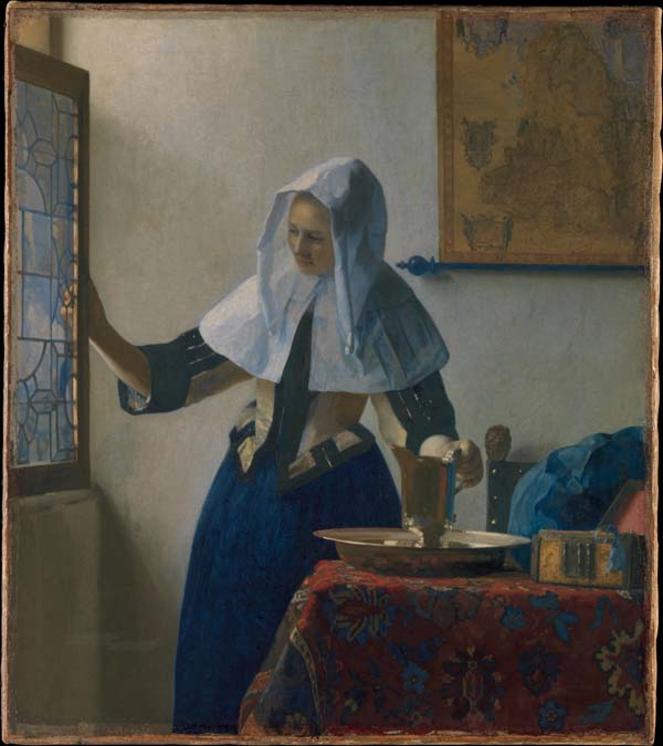 Young Woman with a Water Pitcher 1662, The Met, New York