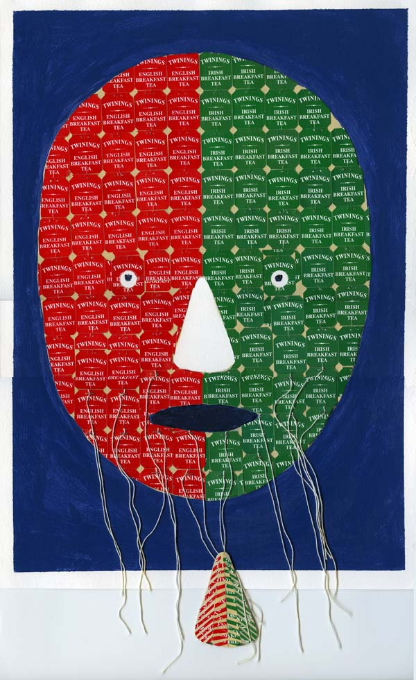 Tony Stewart, Teabag Face — Who Nose? March 2020, 42 x30 cm