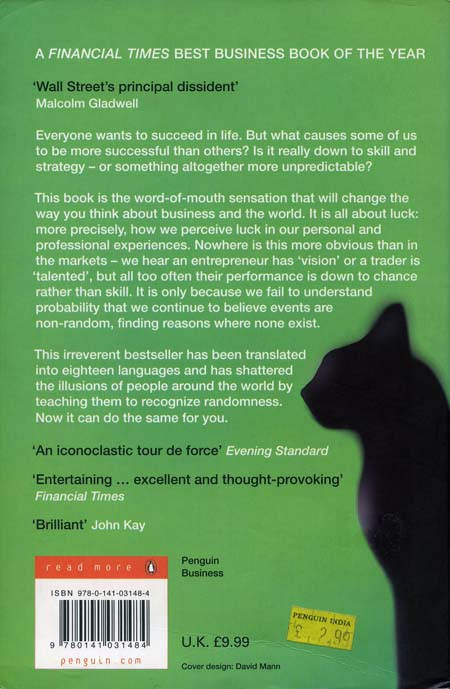 Fooled By Randomness 2004 Back Cover