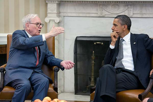 Warren Buffet with President Obama, The Whitehouse
